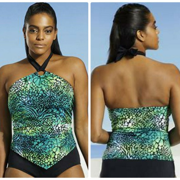 685cfe880f72e Swimsuits For All Sz 18 Tropiculture Tankini Top